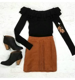 Skirts 62 Suede Lace Up Skirt
