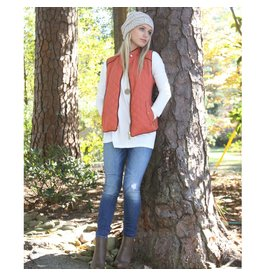 Tops 66 Warm and Cozy Pumpkin Spice Vest