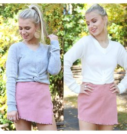 Tops 66 Soft and Cozy Cropped Knot Sweater