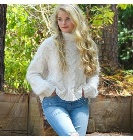 Tops 66 Chenille Cable Winter Sweater