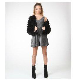 Outerwear Fuzzy Black Coat