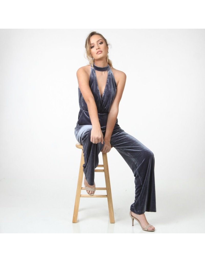 Jumpsuit Blue Velvet Jumpsuit