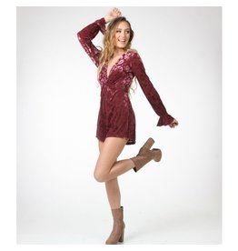 Rompers 48 Burgundy Crush Velvet Holiday Romper