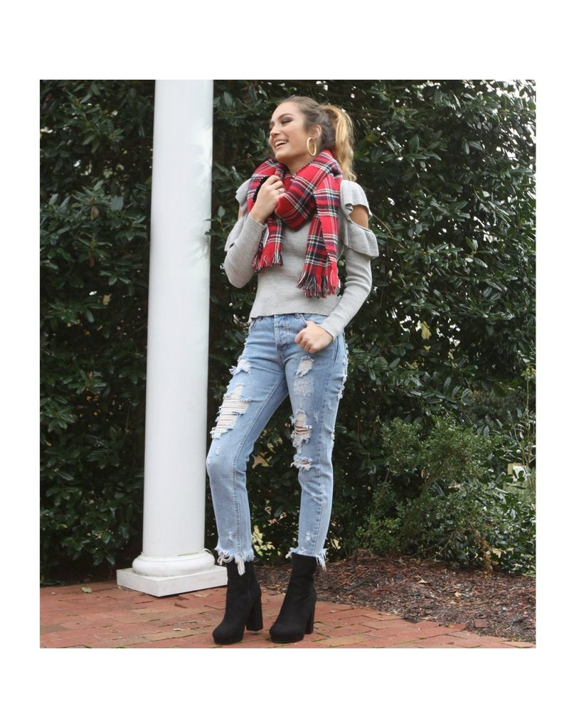 Accessories 10 Pretty and Plaid Holiday Scarf