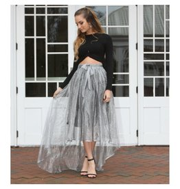 Skirts 62 Stunning Silver Holiday Skirt