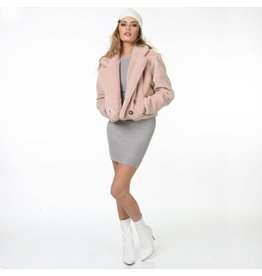 Outerwear Pink Shearling Coat