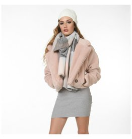 Accessories 10 Pink/Grey Plaid Scarf