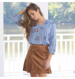 Skirts 62 Braided and Suede Mini Skirt