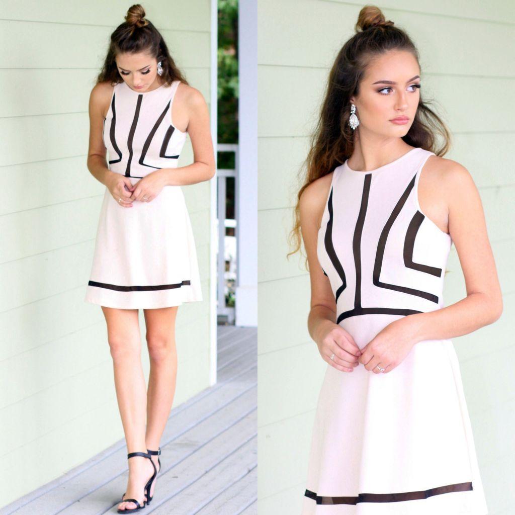 Dresses 22 Blushing Beauty & Mesh Detail Dress