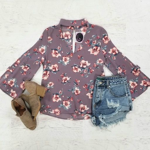 Tops 66 Never Too Late Floral Top