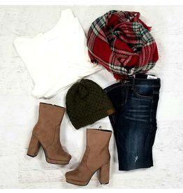 Accessories 10 Holiday Plaid Blanket Scarf