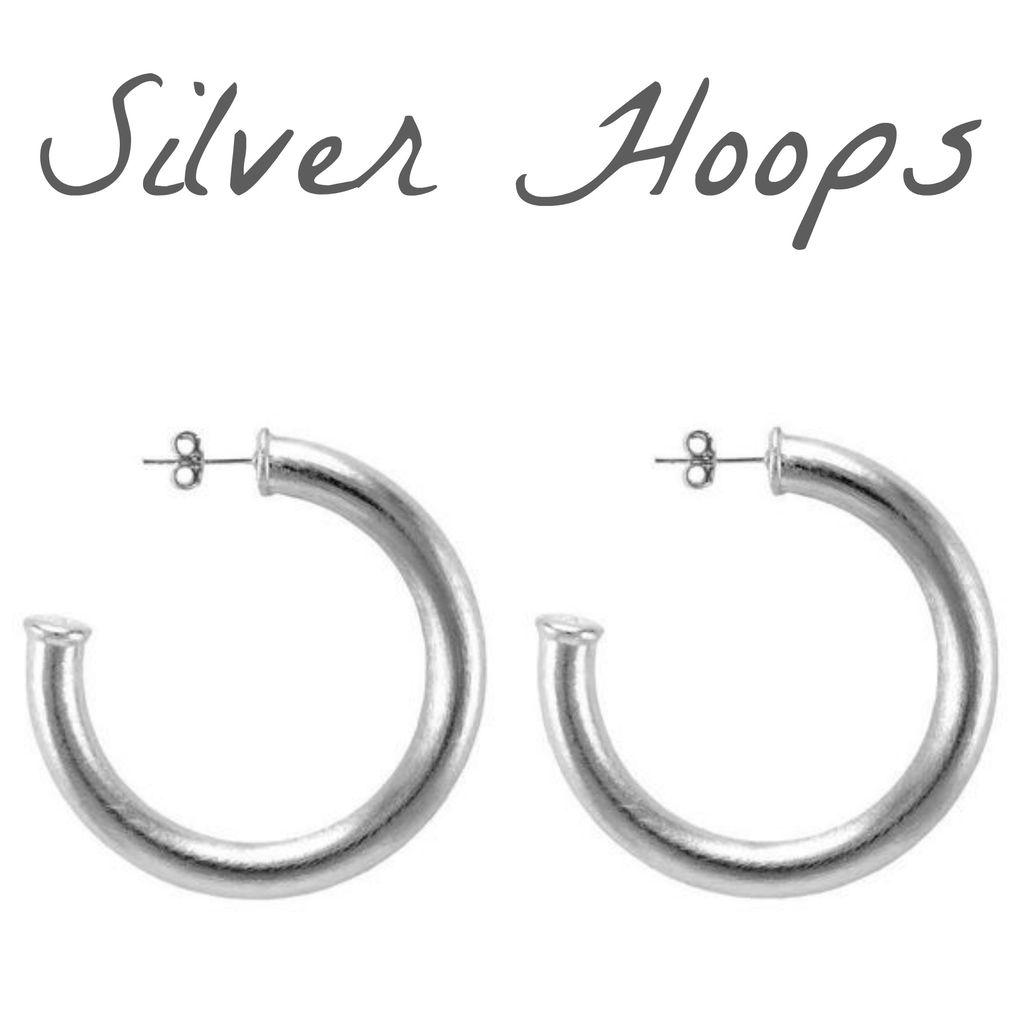 Jewelry 34 Silver Hoop Earrings