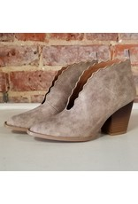 Shoes 54 Make An Entrance Scallop Taupe Booties