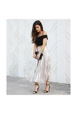 Skirts 62 Satin Pleated Midi Skirt