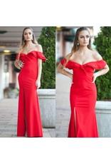 Dresses 22 Festive Red Ruffle Dress