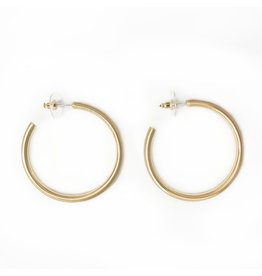 Jewelry 34 Large Satin Gold Hoops