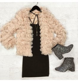 Outerwear Fuzzy Blush Coat