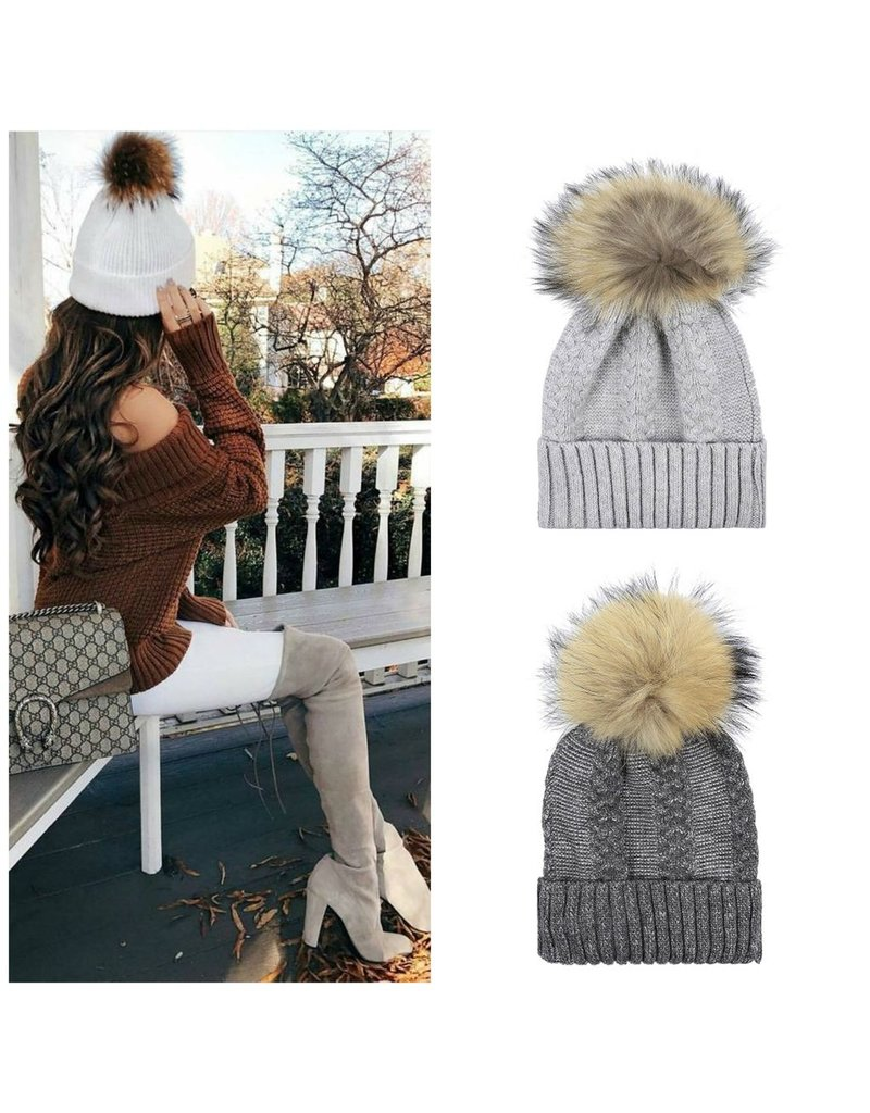 Accessories 10 Winter Fur Pom Pom Hat