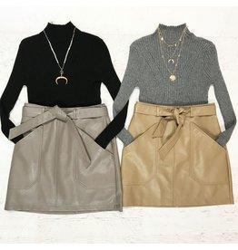Skirts 62 Winter Leather Pocket Skirt