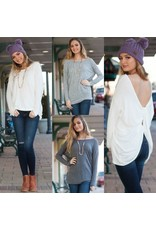 Tops 66 Knot Kidding Twisted Back Sweater