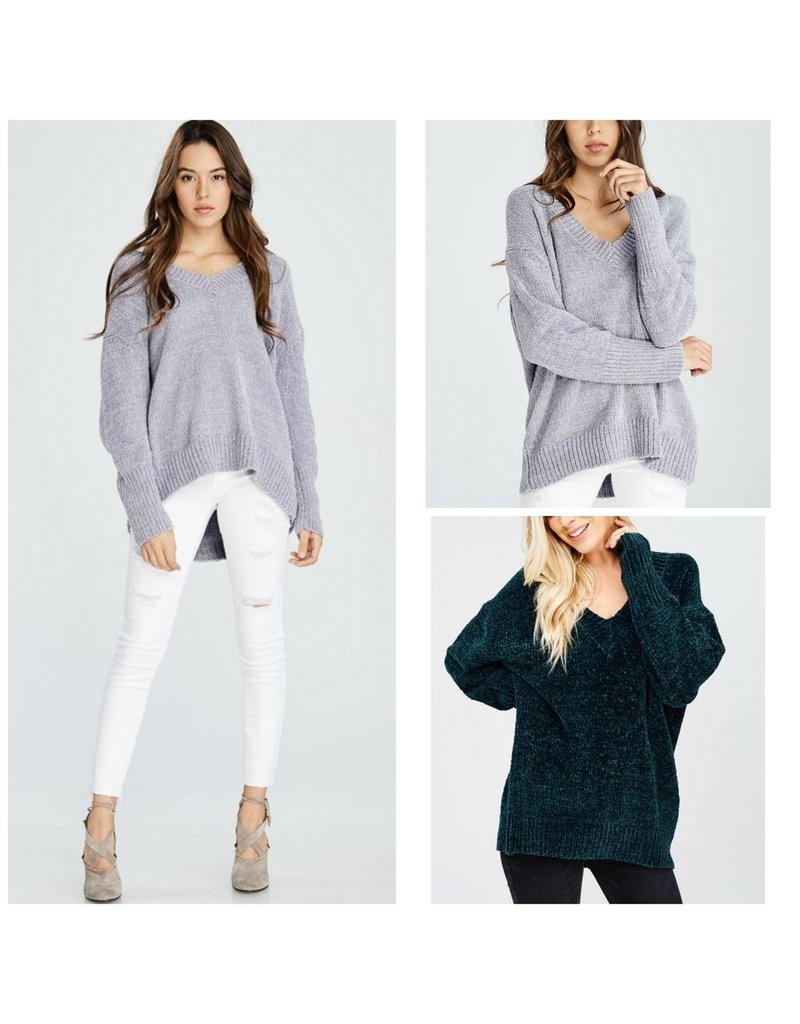 Tops 66 Chenille V-Neck Winter Sweater