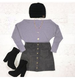 Tops 66 Dusty Purple Winter Sweater Top