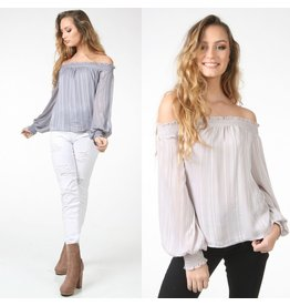 Tops 66 Winter Shimmer Off Shoulder Top