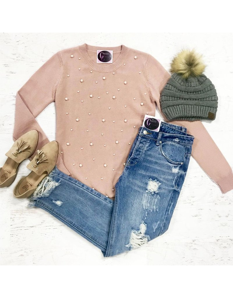 Tops 66 Pearl Embellished Sweater