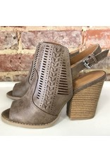 Shoes 54 A Touch of Taupe Open Toe Shoe