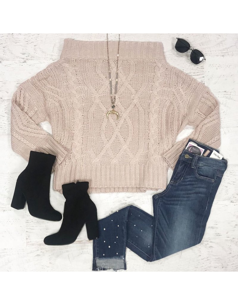 Tops 66 Cozy Off Shoulder Sweater