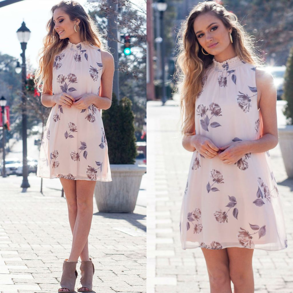 Dresses 22 Blushing Heart Floral Dress