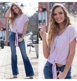 Tops 66 A Little Tied Up Lavender Top