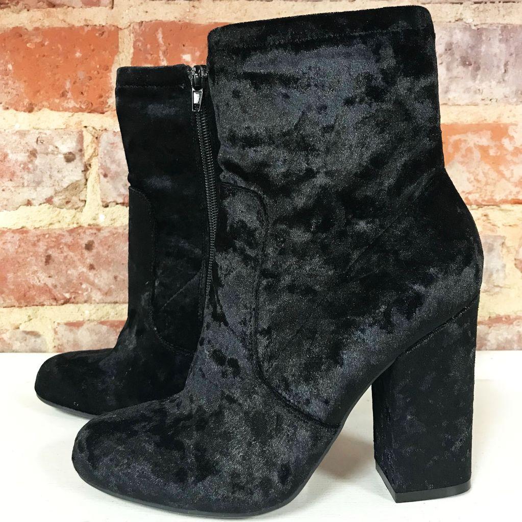 Shoes 54 Best Boot Forward Black Velvet Midi Boot