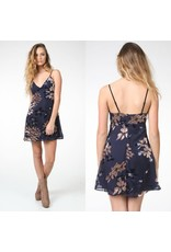 Dresses 22 Burn Out Navy Floral Velvet Dress