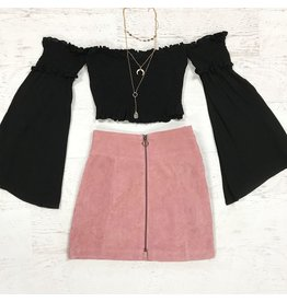 Tops 66 Smocked With Love Black Top