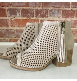 Shoes 54 Core Group Taupe Tassel Bootie