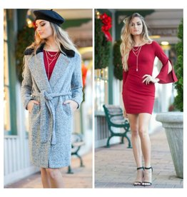 Outerwear Upper East Side Velvet Collar Coat