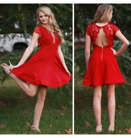 Dresses 22 Lacy Fit & Flare Scarlet Dress