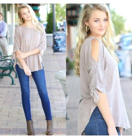 Tops 66 Latte Love Mineral Wash Top