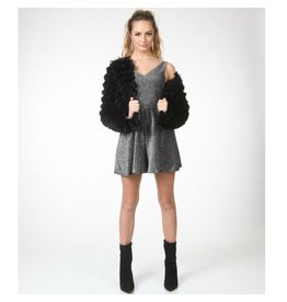 Outerwear Fuzzy Black Coat