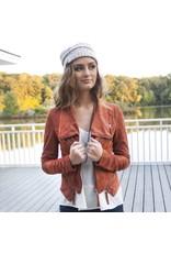 Outerwear Autumn Chill Suede Brick Moto Jacket