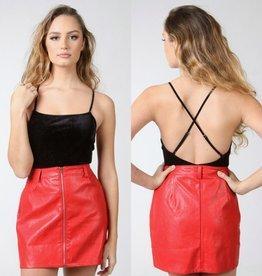 Tops 66 Holiday Sparkle Black Velvet Bodysuit