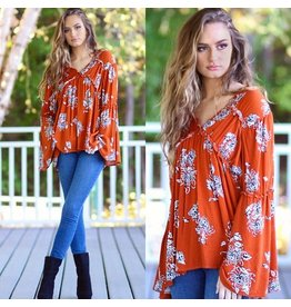 Tops 66 Fun Fall Floral Top