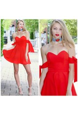Dresses 22 Red Tie Sleeve Occassion Dress
