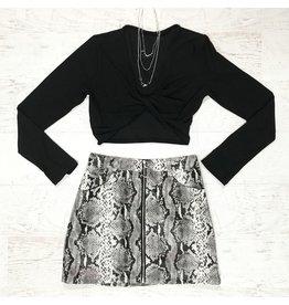 Skirts 62 Now Or Never Snake Skin Skirt