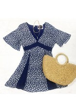 Dresses 22 Wild Flowers Navy Dress