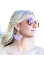 Jewelry 34 Pink Raffia Earrings