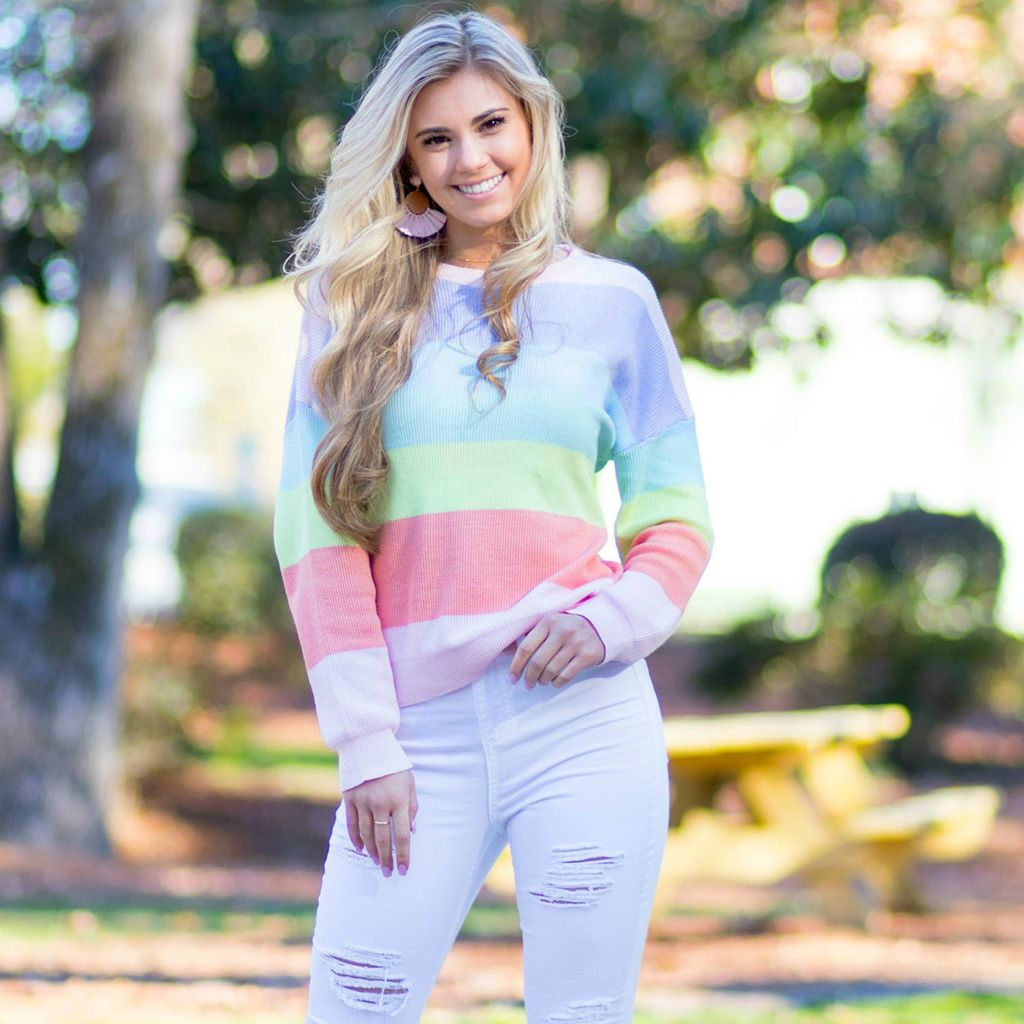 Tops 66 Spring Dream Colorful Sweater