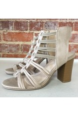 Shoes 54 Taking Strides Taupe Strappy Heel