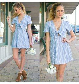 Dresses 22 Summer Dream Stripe Blue Dress